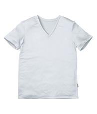 V首半袖シャツ