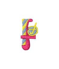 アップリケ アルファベット f